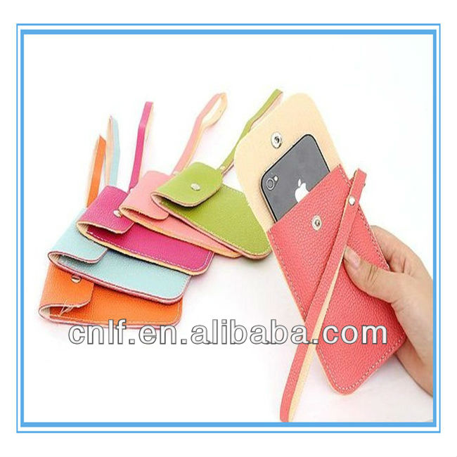 Leather, PU Waterproof Cell Phone Neck Hanging Bag
