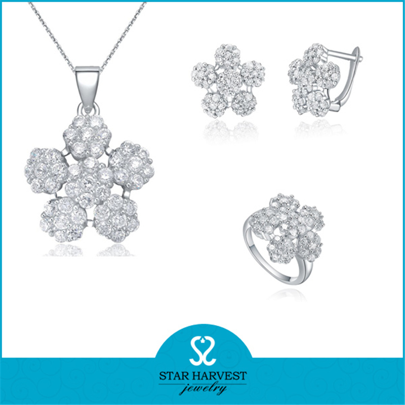 Wholesale Fashion 925 sterling silver jewelry set