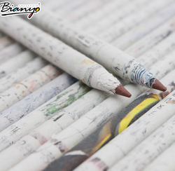 Environmental Eco friendly recycled newspaper pencil