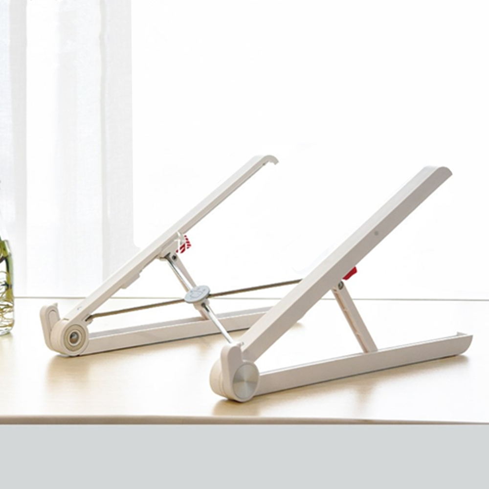 brand new folding portable recliner laptop stand with creative nylon and fiber material