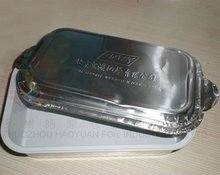 aluminum tin foil container and lid for restaurant food packing