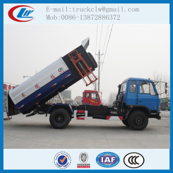Garbage Container Lift Truck Bin Lifter Garbage Truck, Side Loader Garbage Collector Trucks 10 tons