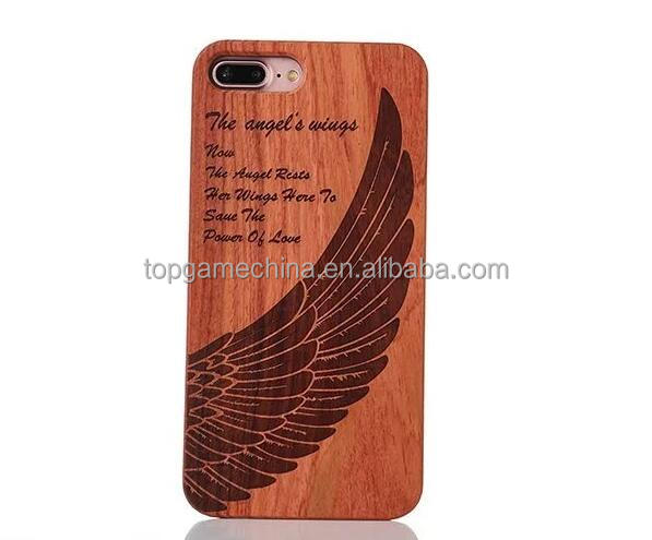 Natural wood back cover mobile phone hard case cover for iPhone 7 Plus shell