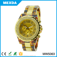luxury multi quartz luminous function crystal wrist watch