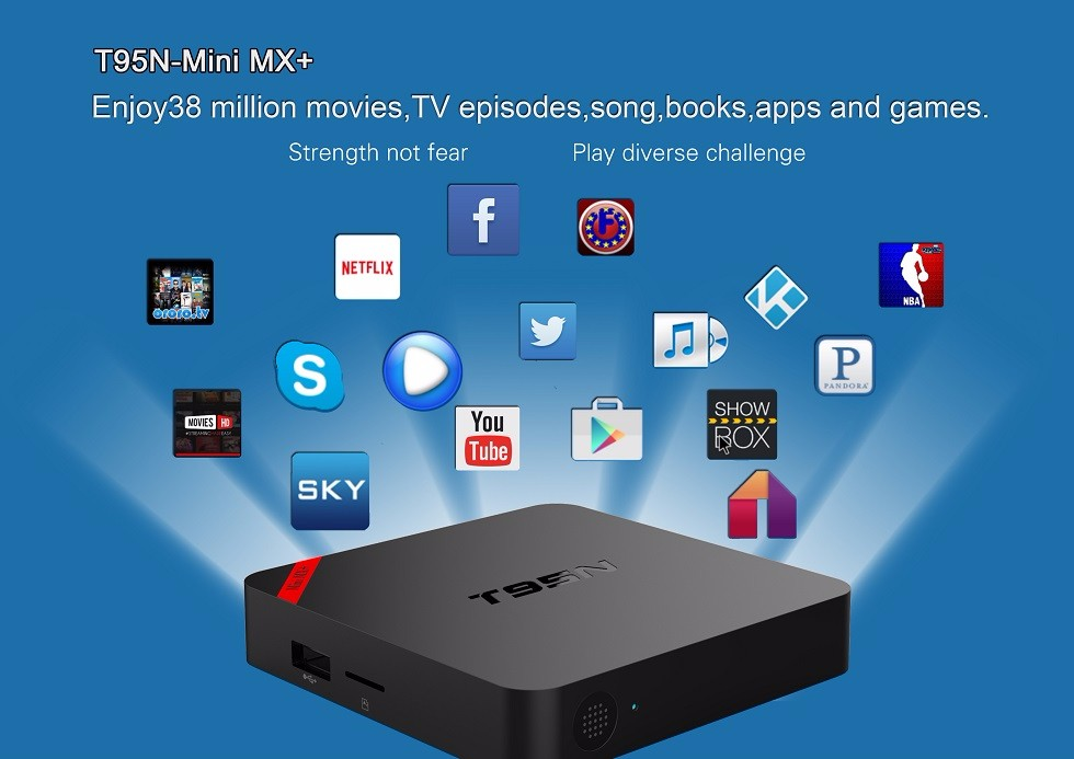 IPTV box t95n mini mx+ Android tv box OS 5.1 Amlogic S905 Quad Core 1GB/8GB Newest
