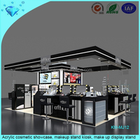 Acrylic cosmetic showcase, makeup stand kiosk, make up display stand