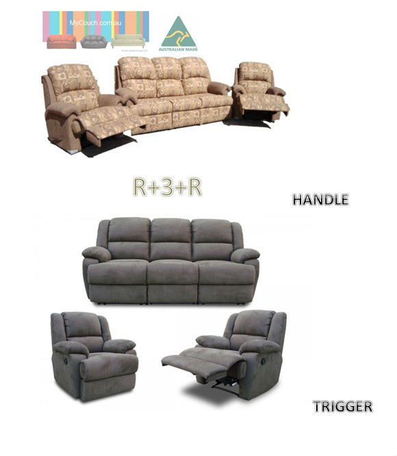 ROLAND 3 SEATER WITH 2 RECLINERS