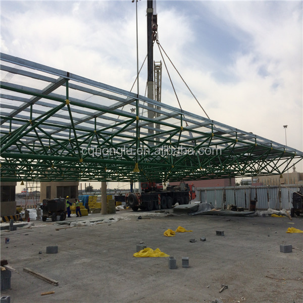 China Honglu steel building prefabricated service station
