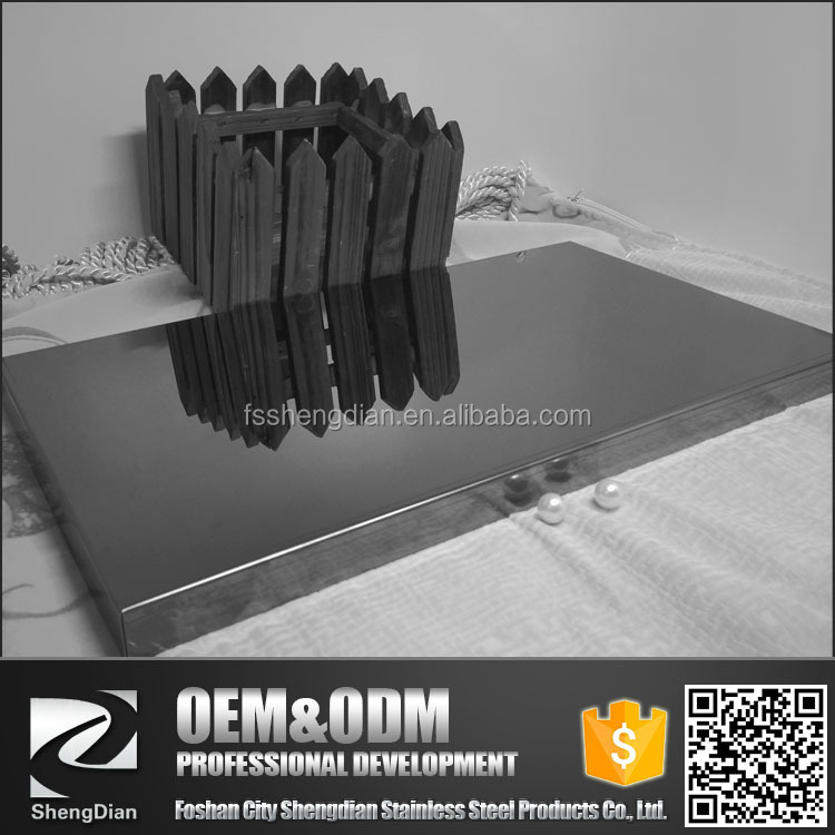 Big Stock Pvd Coating Colors Stainless Dark Mirror surface 1x2 M Flat Sheet