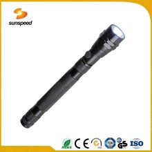 Waterproof 3 Led Telescopic Aluminium Alloy Flashlight With Clip