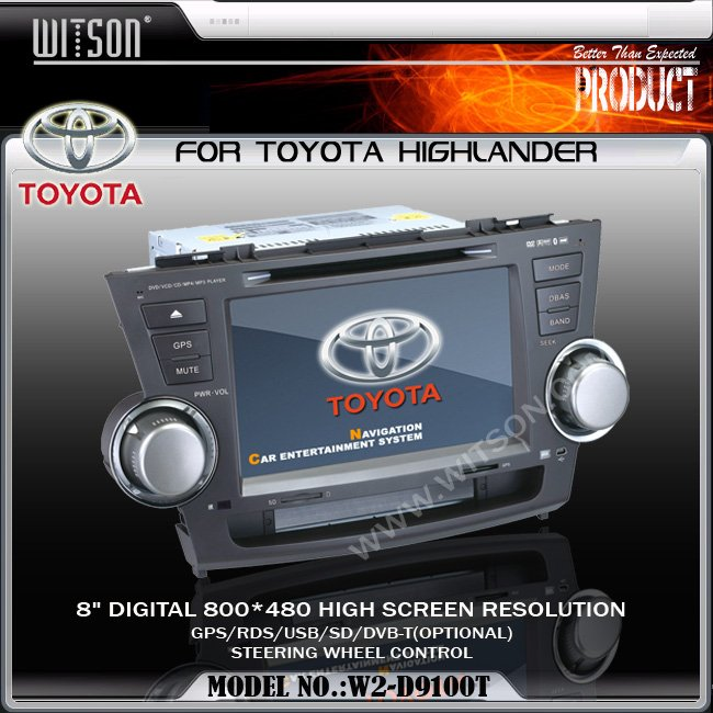 WITSON Special Car DVD Player FOR TOYOTA HIGHLANDER Car DVD Player GPS