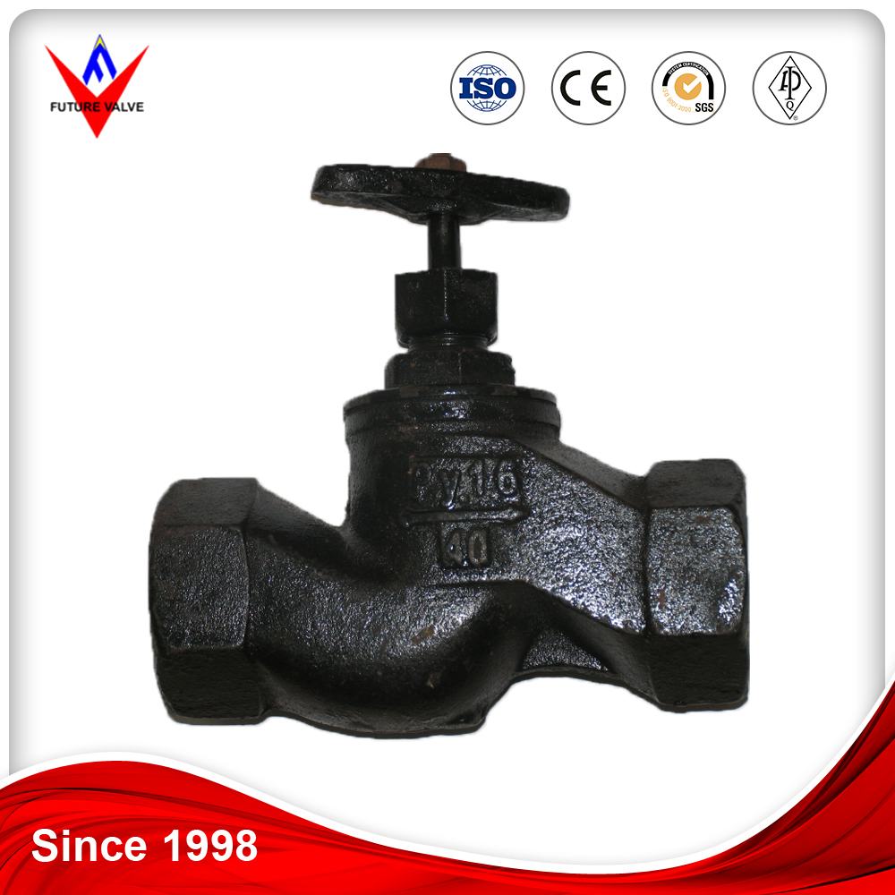 DN15 PN16 GOST Screwed Cast Iron Stop Valve