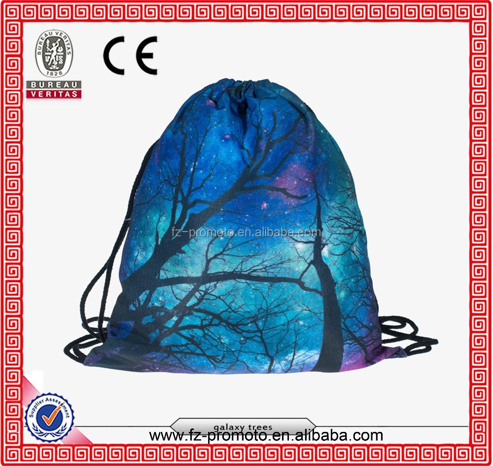 Sky scenery 3D printing Women's Men's Gym Bags mochila feminina bolso de lazo Travel Daypack Handbag drawstring bag backpacks