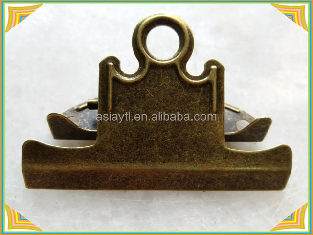 ancient bronze metal butterfly hanging file holder clips