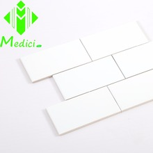 hot sale 75*150mm white matt subway tile