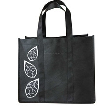 promotional customized silk-screen printing grocery non woven tote bag