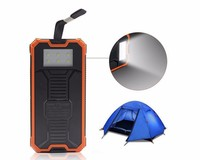 Travel Solar charger IP68 Waterproof power bank 10000 mah Portable Mobile Power Bank