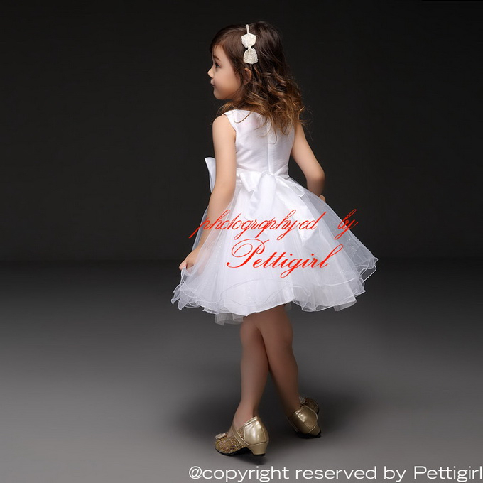 Neuen design weiße mädchen kleider mit schleife mädchen engel ...