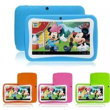 Bulk Wholesale cheapest 7 inch Kids Education Tablet PC double Cameras Android 5.1 games tablet for kids