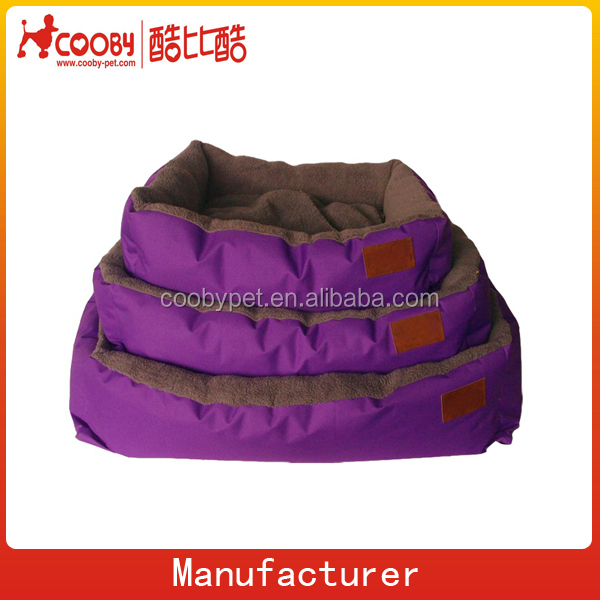 purple plush rectangle dog kennel