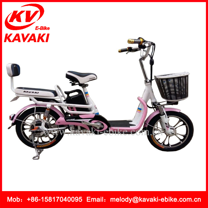 16inch KAVAKI the Electric Bike 48V250W Green Evs Electric Scooter Motorcycle