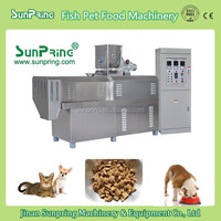 Hot sale fish food making machine with best price, 2016 new type twin screw extruder for good quality fish feed / pet feed