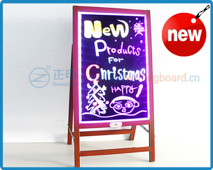 Hot Selling ZD Waterproof LED Light Board Stand Independently Foldable Stand Light Sign 90 Flashing Modes