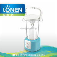 LONEN 60SMD super bright rechargeable solar camping lantern led with hook