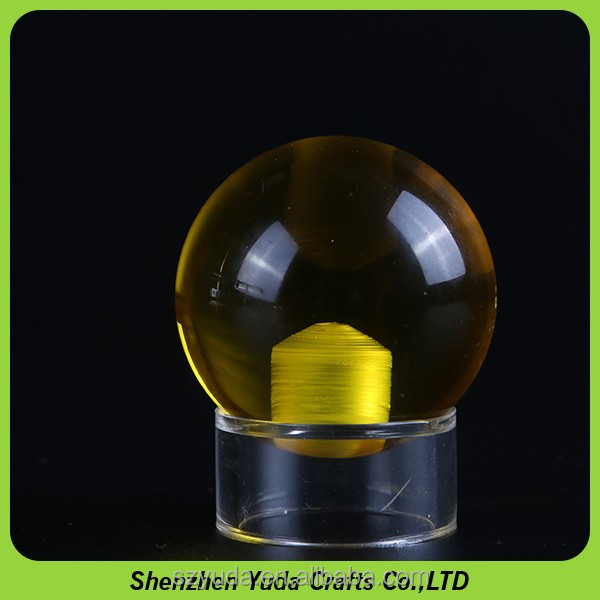 promotional Crystal Clear Acrylic Contact Juggling Balls plexi balls