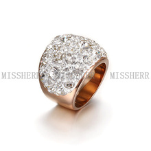 Best seller multi white cz stone and crystal ring NSR044STRGWTZD