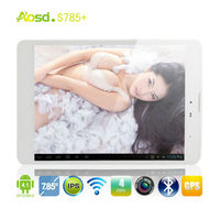 Super!!7.85'inch 1024*768 IPS screen Android mtk8389 qual core 1.5ghz dual camera tablet s785+ aosd Cheapest 3G