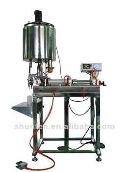 Heated Butter Filling Machine with Stirrer and Stand, full pneumatic, double head