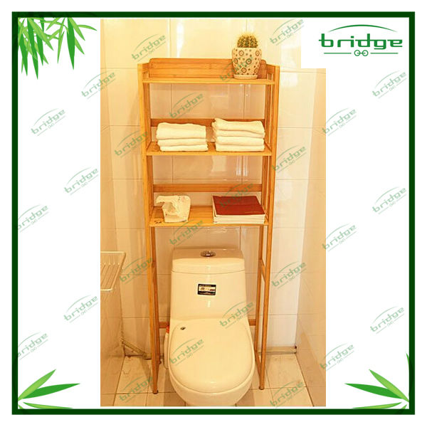Bathroom Bamboo storage corner shelf