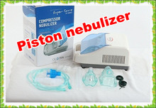 Piston air compressor nebulizer inhaler with oxygen mask hot sale