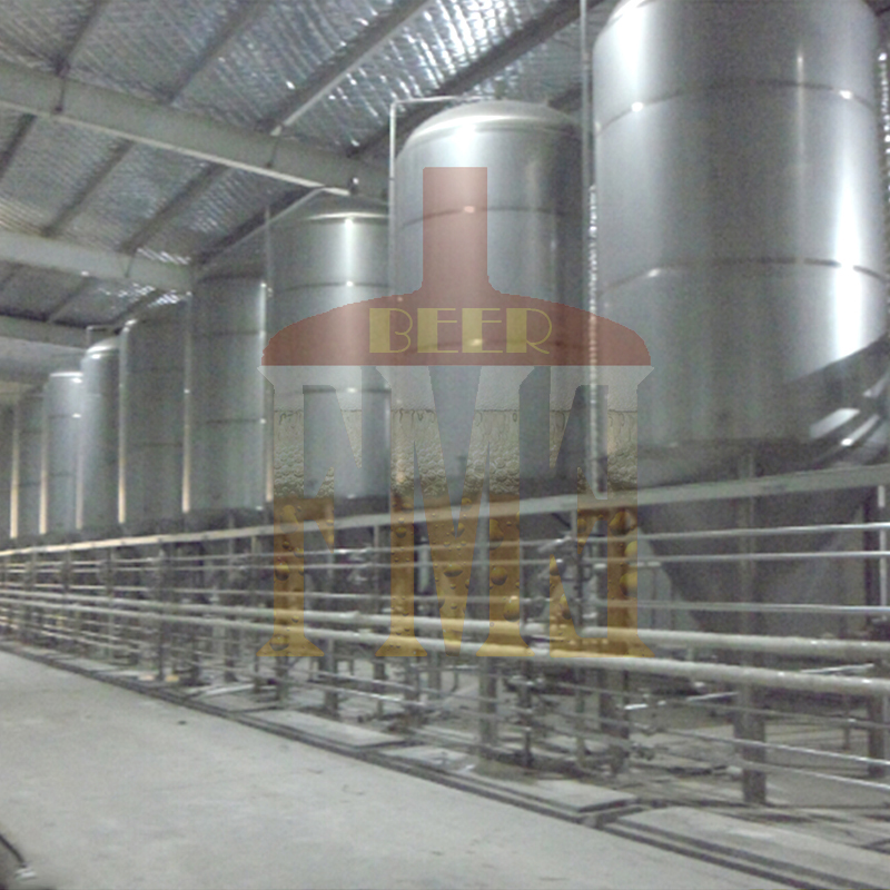 Stainless steel conical fermenter with cooling jacketed brewing fermenter craft brewing