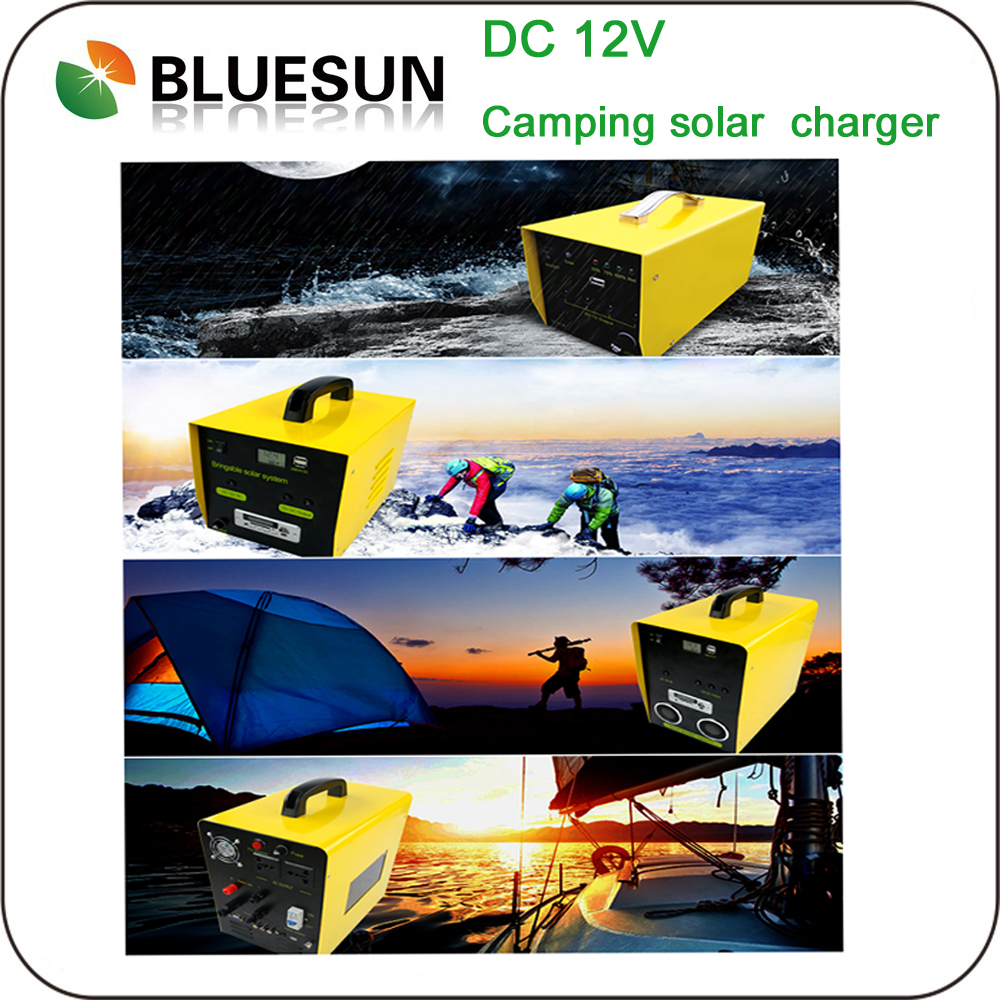 Bluesun High Quality Cheap Price Solar Portable Power DC 12V 30W Portable Solar System Wholesale
