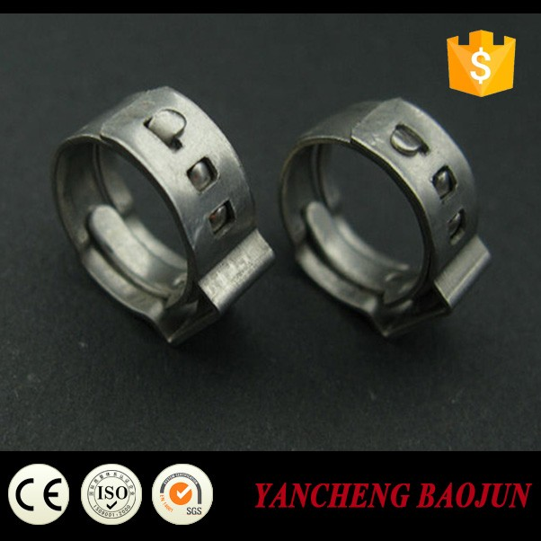 China Baojun single ear hose clamps / clamp ring