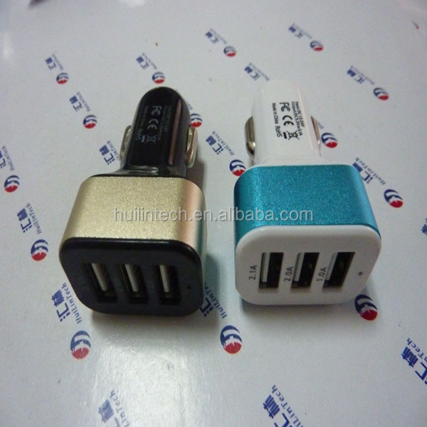 Wholesale auto electronics wireless 5.1A 3 usb car charger