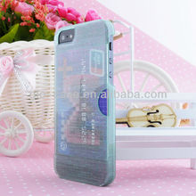 2014 New style card holder case, manufacturers mix order accept for iphone 5s case