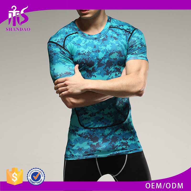 Guangzhou Shandao Custom Made Wholesale Sleeveless Camo Muscle Fitted In Bulk crane sportswear