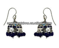 beaded indian jhumka earring dangler