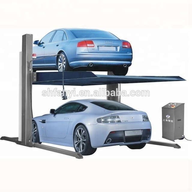 Two Post Car Parking lift low profile design for easier driving -on can be parallel many units ,new design of very popular