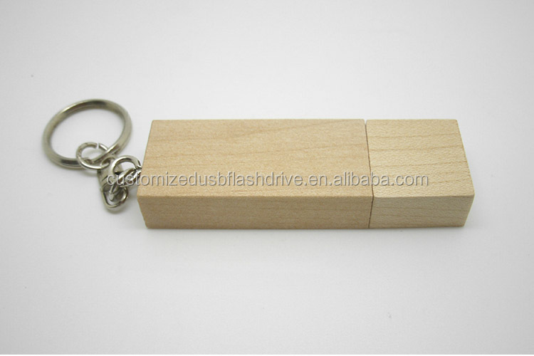 Top Quality High Speed Custom Logo Rectangle Wooden Fashion USB flash disk / USB key