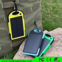 easy carry solar charger 5000mah with led rechargeable torch