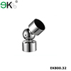 Stainless steel handrail pipe fitting round pipe elbow adjustable tube connector