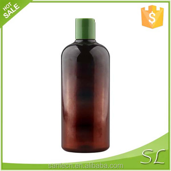 16oz amber boston round lotion flip top lid/cap custom 300ml 400ml refillable shampoo bottle