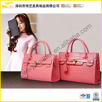 2014 New Design Leather Woman Bag Fashion Ladies Handbag Top Quality Promotional Custom Leather Tote Bag