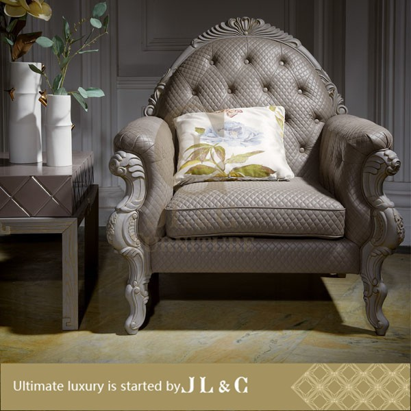 Upholstered Sofa Hand engraved In Living Room-JLC Luxury Home Furniture