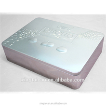 Embossed tin box for food