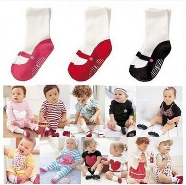 Baby Toddler Ballet Shape Crew Anti-Slip Socks Shoes Lovely Cute Baby Girls Ballet Socks